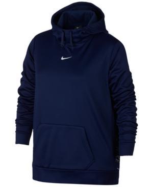 Nike Plus Size Therma Training Hoodie In Binary Blue