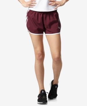 Adidas Originals Adidas Climalite M10 Shorts In Maroon/White