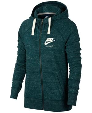 Nike Gym Vintage Full-Zip Hoodie In Dark Atomic Teal/Sail