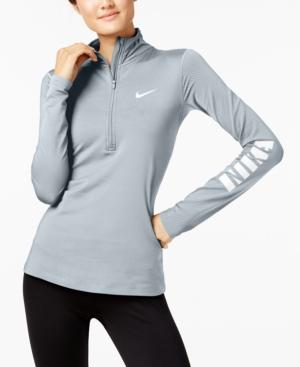 Nike Pro Warm Fleece-Lined Half-Zip Top In Pure Platinum