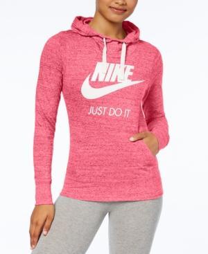 Nike Gym Vintage Logo Hoodie In Pink Nebula