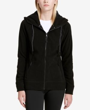 Calvin Klein Performance Logo Zip Hoodie, Created For Macy's In Black