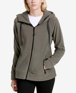 Calvin Klein Performance Logo Zip Hoodie, Created For Macy's In Olive Moss