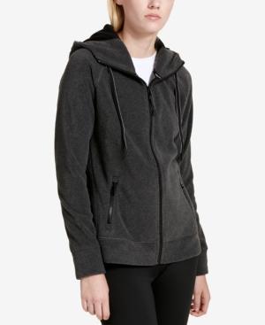 Calvin Klein Performance Logo Zip Hoodie, Created For Macy's In Slate Heather