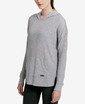 Calvin Klein Performance Over-Sized Hoodie In Pearl Grey Heather