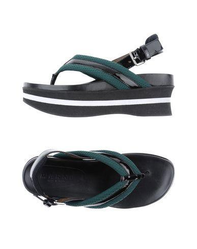 Marni Toe Strap Sandals In Green