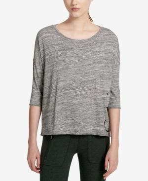 Calvin Klein Performance Logo Top In Black Creek Heather