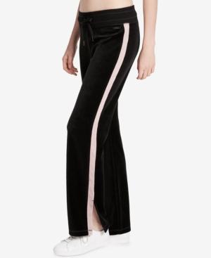 Calvin Klein Performance Velour Track Pants In Black/Bare