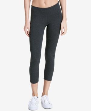 Calvin Klein Performance Cropped Logo Leggings In Slate Heather