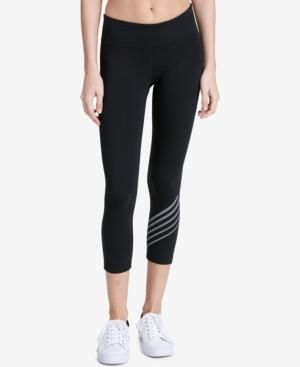 Calvin Klein Performance Cropped Leggings In Reflective Silver