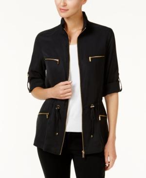 Calvin Klein Utility Jacket In Black