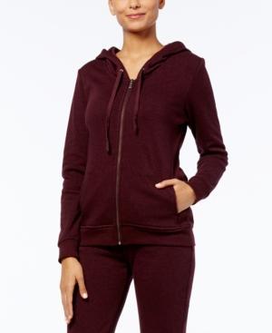 Ugg Clara Hooded Fleece-Lined Sweatshirt In Port Heather