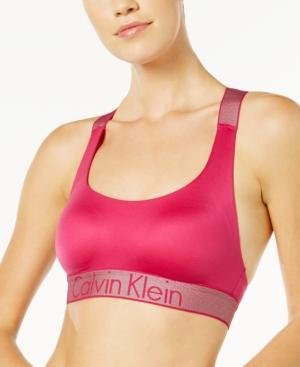 Calvin Klein Lightly Lined Bralette Qf4053 In Roseate