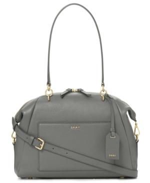 Dkny Chelsea Large Satchel, Created For Macy's In Pewter