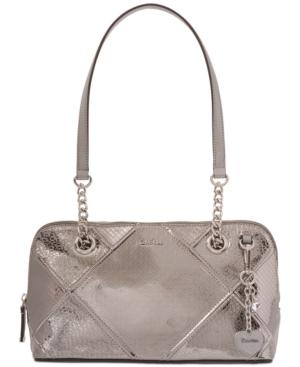 Calvin Klein Medium Shoulder Bag In Graphite
