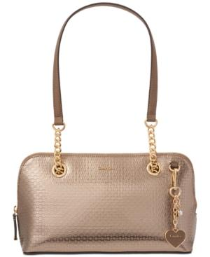 Calvin Klein Medium Shoulder Bag In Bronze