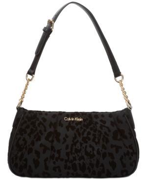 Calvin Klein Nylon Demi Medium Shoulder Bag In Cheetah