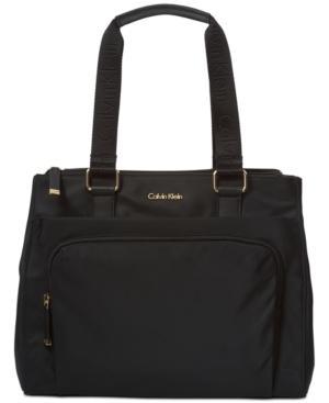 Calvin Klein Vanessa Large Tote In Black