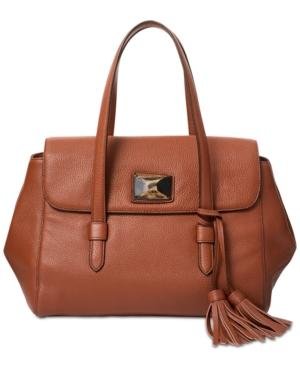 Dkny Alix Medium Flap Shoulder Bag, Created For Macy's In Walnut