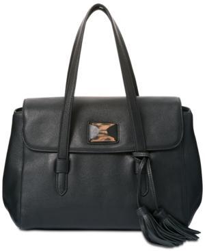 Dkny Alix Medium Flap Shoulder Bag, Created For Macy's In Black