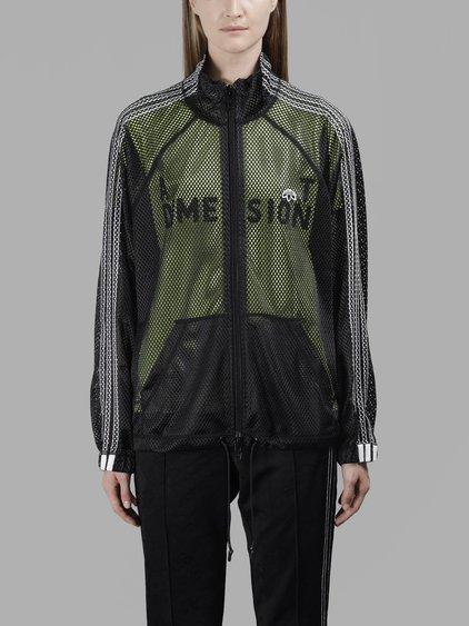 Adidas Originals By Alexander Wang Adidas By Alexander Wang Women's Black Mesh Track Sweater In In Collaboration With Alexander Wang