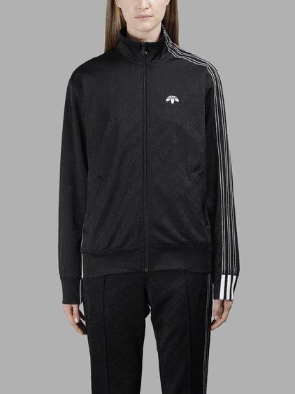 Adidas Originals By Alexander Wang Adidas By Alexander Wang Women's Black Track Sweater In In Collaboration With Alexander Wang