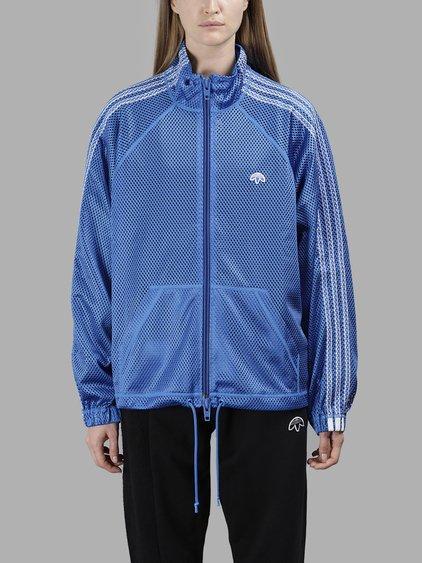 Adidas Originals By Alexander Wang Adidas By Alexander Wang Women's Blue Mesh Track Sweater