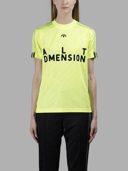 Adidas Originals By Alexander Wang Adidas By Alexander Wang Women's Yellow Jacquard Soccer T-Shirt In In Collaboration With Alexander Wang