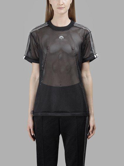 Adidas Originals By Alexander Wang Adidas By Alexander Wang Women's Black Mesh T-Shirt In In Collaboration With Alexander Wang