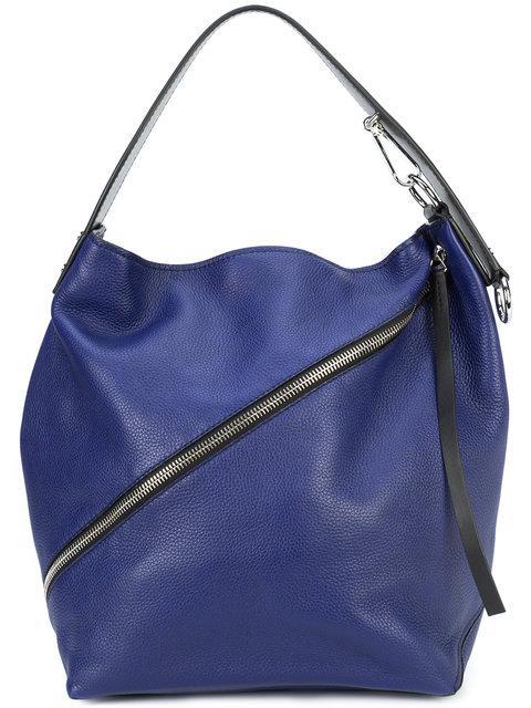 Proenza Schouler Medium Pebbled Hobo Bag - Blue