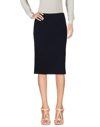 Armani Collezioni Knee Length Skirt In Dark Blue