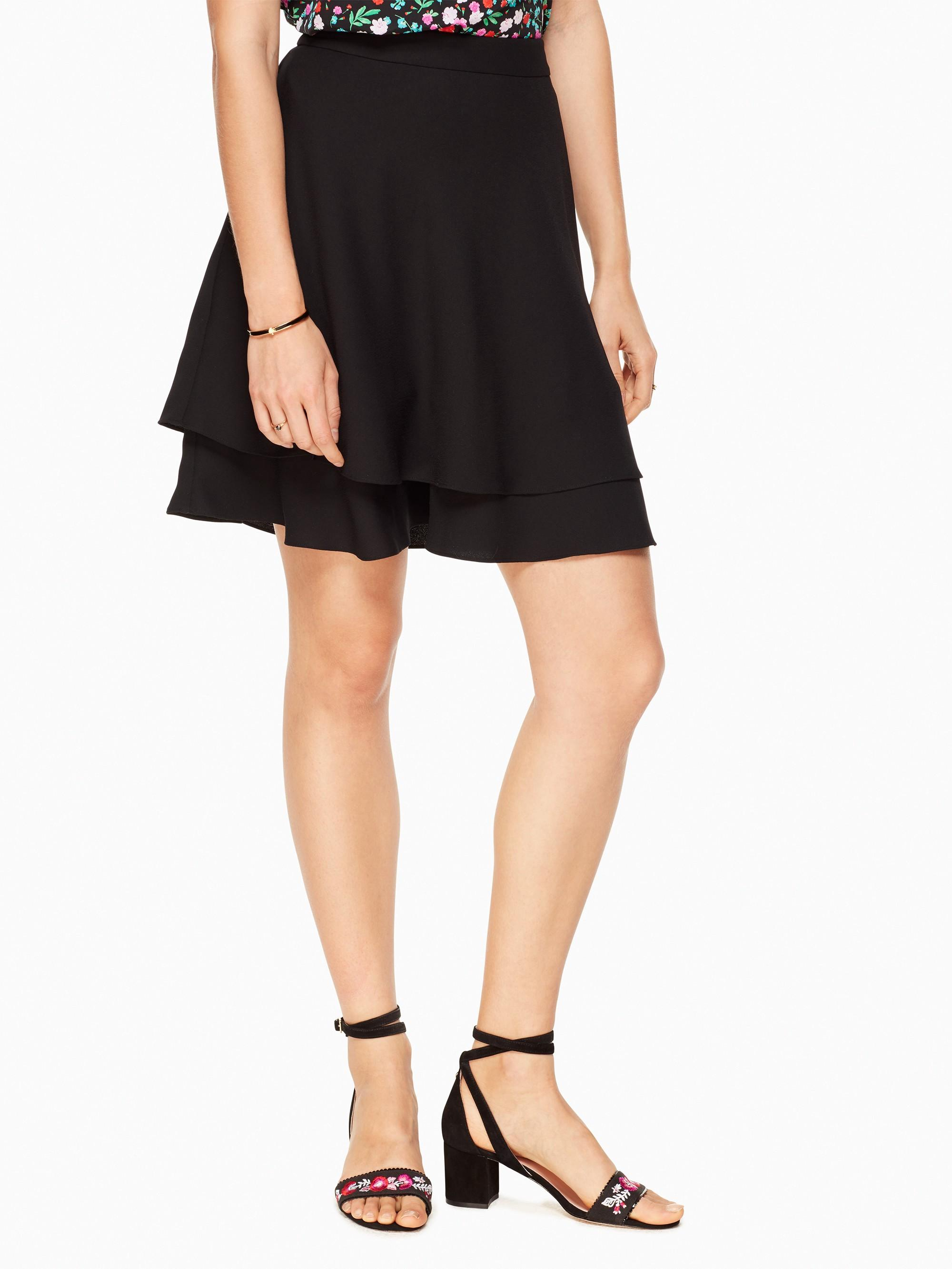 Kate Spade Double Layer Skirt In Black