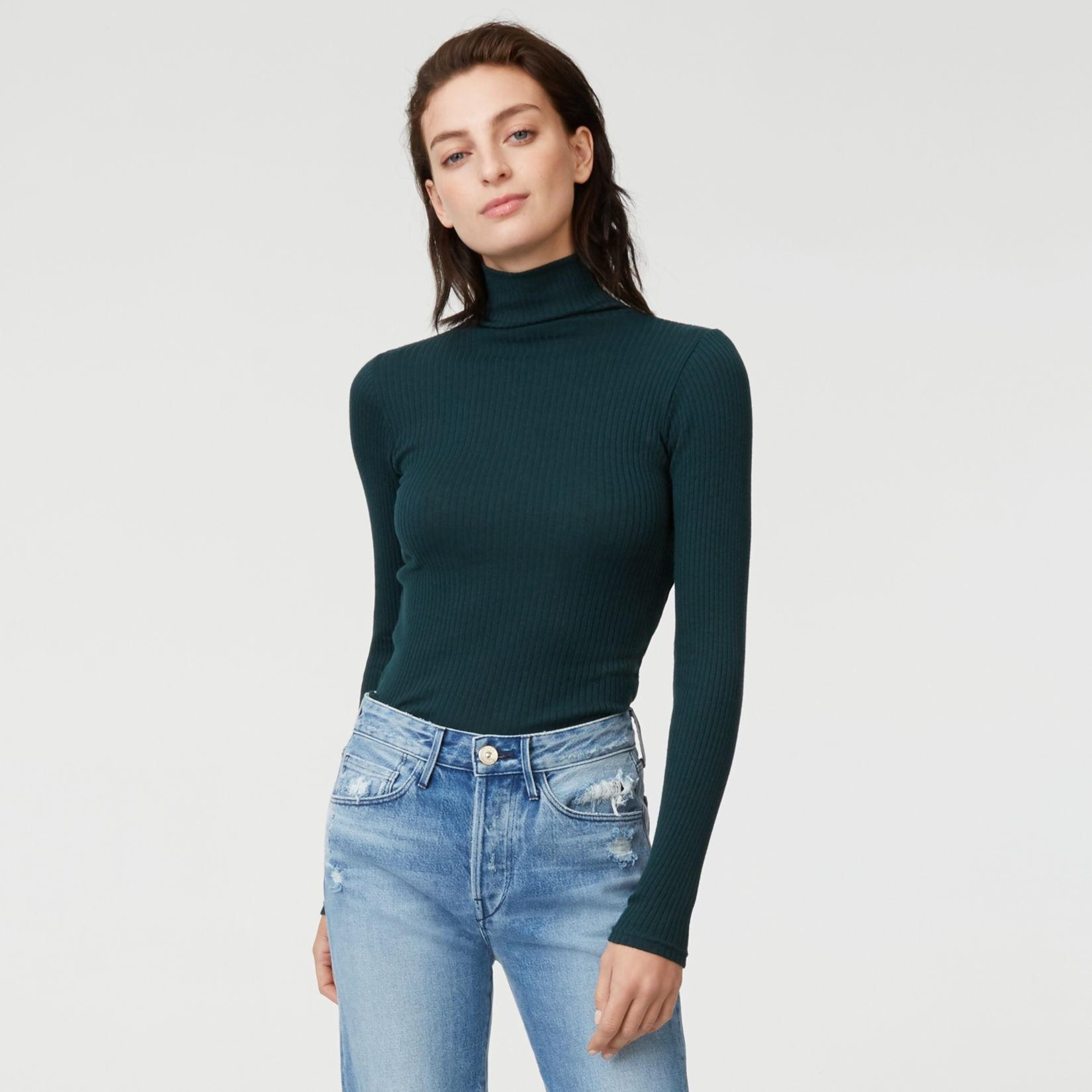 Club Monaco Julie Turtleneck Sweater In Dark Rosemary