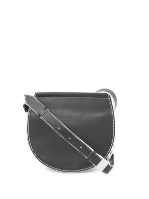 Givenchy Infinity Mini Leather Saddle Bag - Blk, Wht