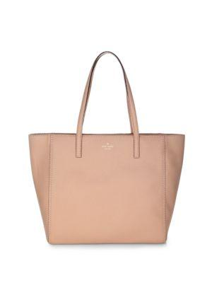 Kate Spade Hopkins Street Hallie Leather Tote In Brown Sugar