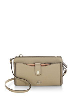 Coach Leather Crossbody Bag In Stone