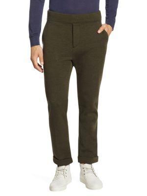 Ralph Lauren Purple Label Tailored Knit Track Pants In Green