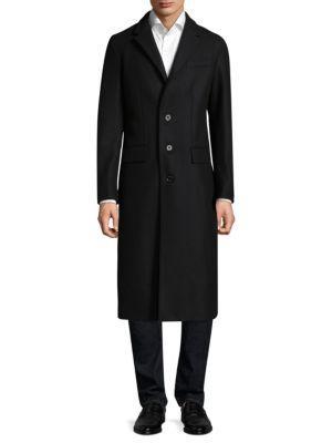 Burberry Flynn Long Overcoat In Black
