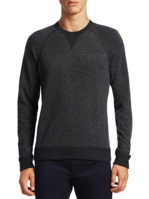 Vince Birdeye Raglan Sleeve Sweater In Carbon Dark Grey