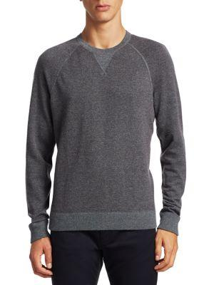 Vince Birdeye Raglan Sleeve Sweater In Maroon Dark Grey