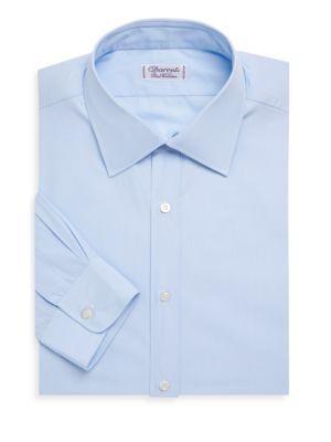 Charvet Slim-Fit End On End Cotton Dress Shirt In Blue