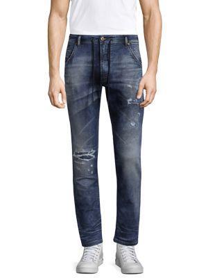 Diesel Krooley Cb-Ne Slim Fit Jogger Jeans In Faded Blue In Denim