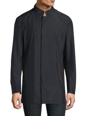 Robert Graham Long Sleeve Raincoat In Black