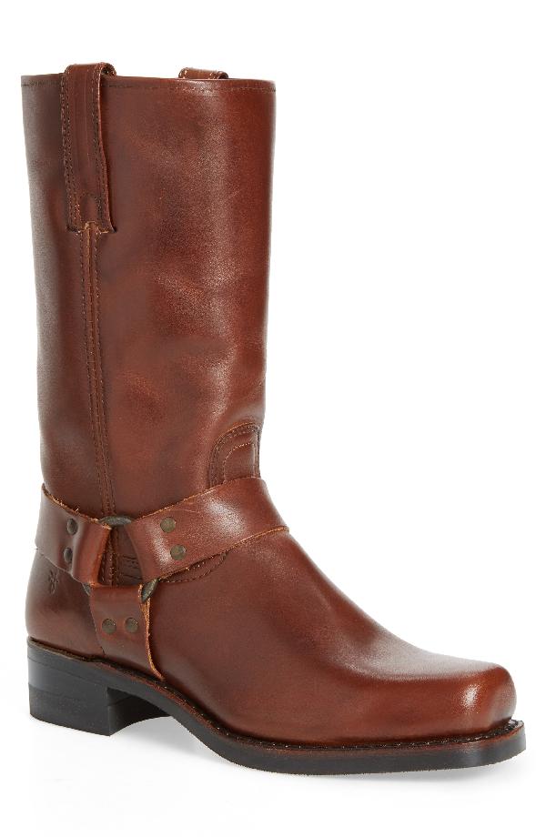 Frye 12R Harness Boot In Walnut