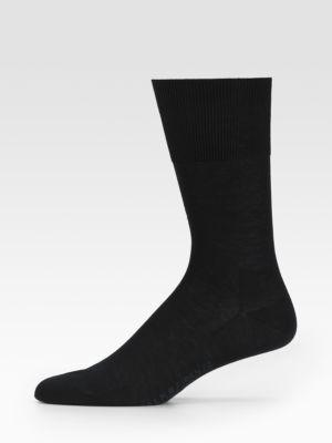 Falke Firenze Cotton Socks In Black