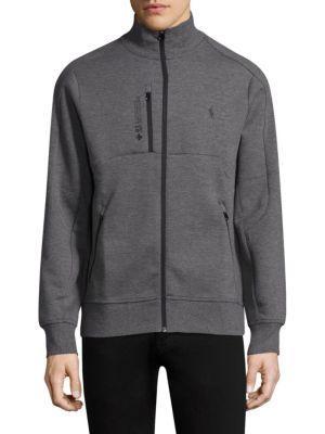 Polo Ralph Lauren Double-Knit Tech Track Jacket In Foster Grey