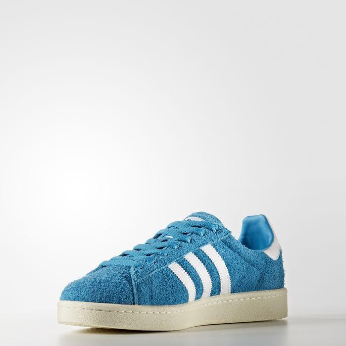 Adidas Originals Adidas Men's Campus Adicolor Casual Sneakers From Finish Line In Ashblu / Ftwwht / Ftwwht