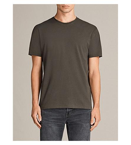 Allsaints Migure Cotton-Jersey T-Shirt In Khaki Brown