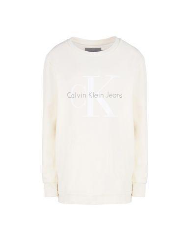 Calvin Klein Jeans Sweatshirt In Ivory
