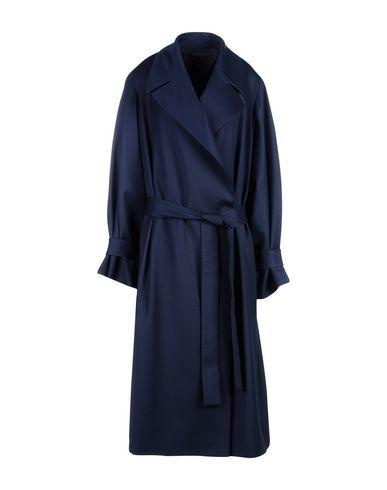 The Row Belted Coats In Dark Blue
